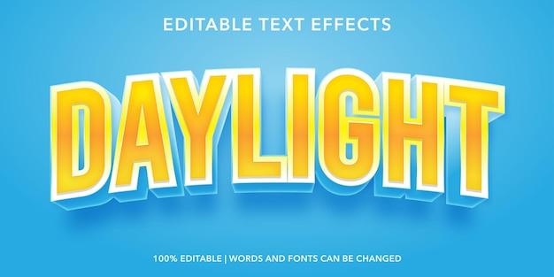 Effetto testo modificabile alla luce del giorno
