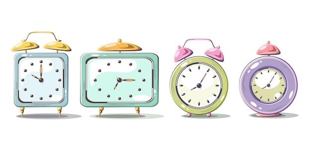 L'ora legale inizia il concetto che gli orologi si muovono in un moderno design piatto