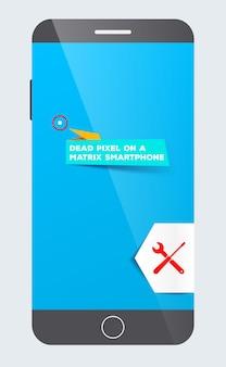 Pixel morto su uno smartphone a matrice servizio di manutenzione parti difettose di ricambio