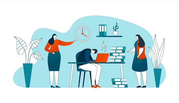 Scadenza nel concetto di lavoro aziendale, linee sottili