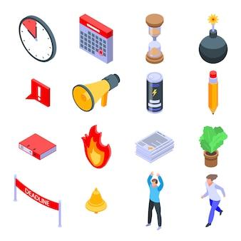 Set di icone di scadenza