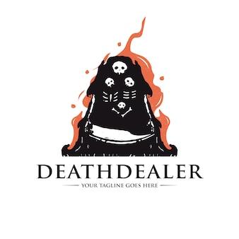 Modello di logo del commerciante della morte