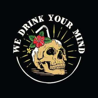 Death skull art vintage cool