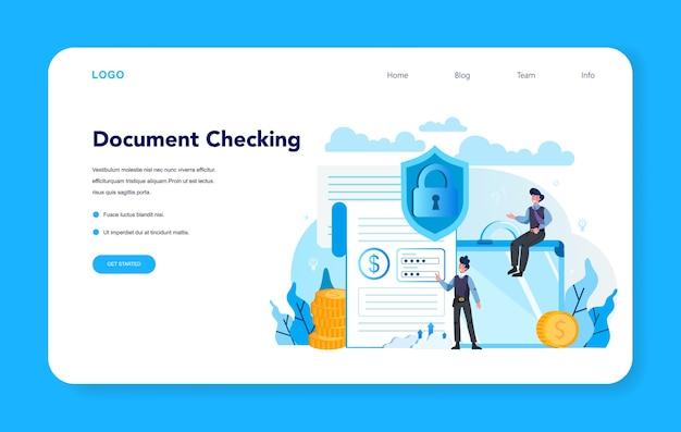 Banner web o pagina di destinazione del collettore di crediti. perseguire il pagamento