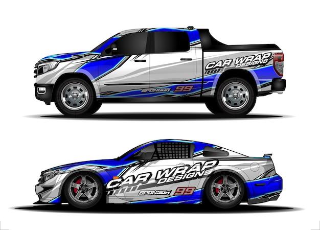 Decalcomania concept design per il rivestimento dell'autoadesivo del veicolo