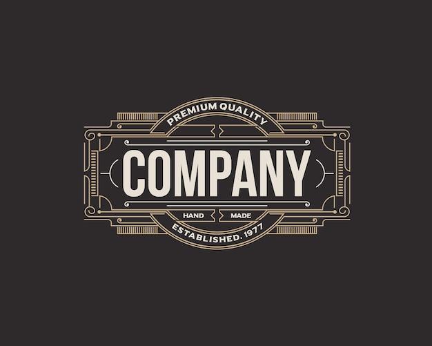Distintivo azienda telaio decorativo