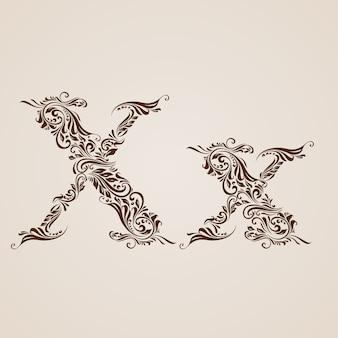 Lettera decorata x