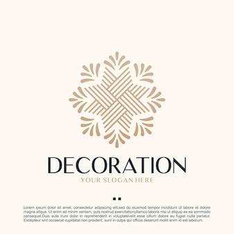 Decorazione, minimalista, ispirazione per il design del logo