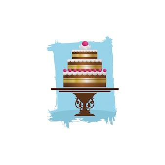 Vettore di torta decorativa Vettore Premium