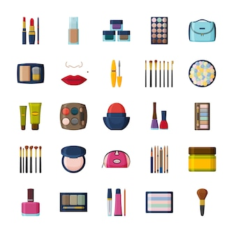 Cosmetici decorativi per viso e beautycase