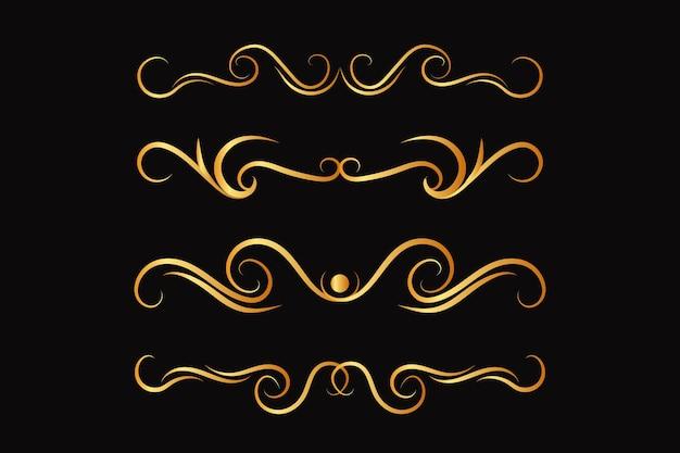 Linee floreali decorative
