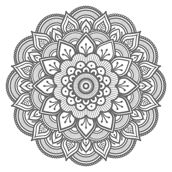 Illustrazione di mandala floreale decorativo con stile etnico orientale