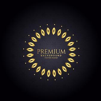 Sfondo decorativo cornice dorata premium