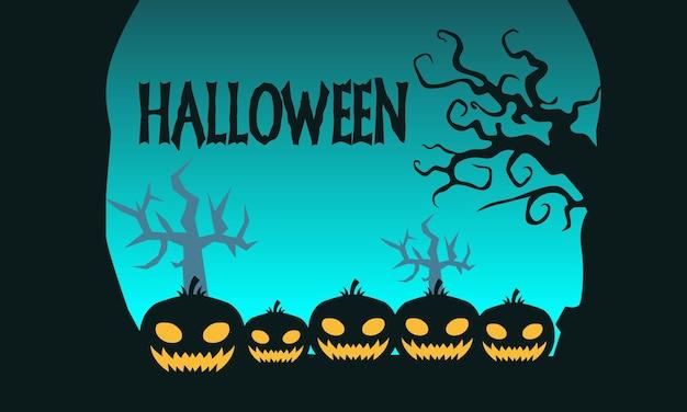 Stile disegnato a mano di sfondo decorativo di halloween