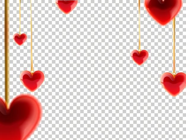 Illustrazione di sfondo cuore decorativo