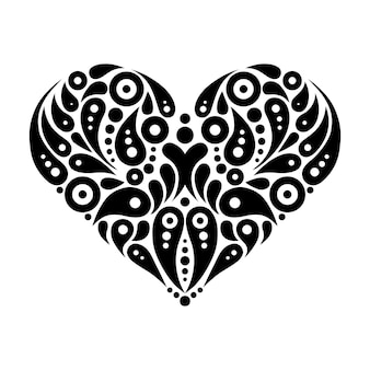 Tatuaggio cuore decorativo