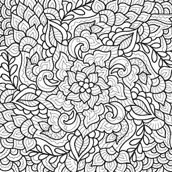 Design decorativo mandala henné per libro da colorare