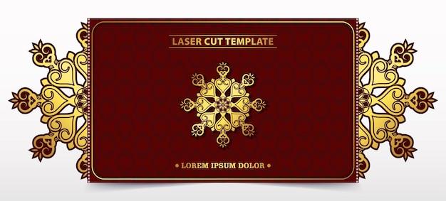 Modello decorativo tagliato al laser per matrimonio