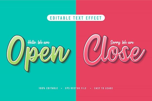 Segno decorativo aperto e chiuso font