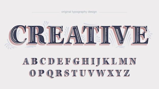 Lettere isolate originali decorative