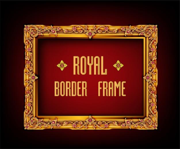 Cornice e bordo decorativi royal vintage