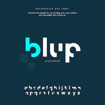 Carattere alfabeto creativo sport decorativo
