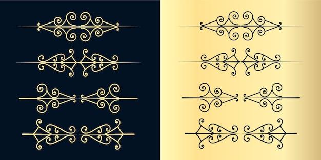Divisori decorativi turbinii. vecchio delimitatore di testo, ornamenti calligrafici di turbinio e divisore vintage, linee di decorazione di bordi retrò progettano curve eleganti insieme di cornici ornamentali
