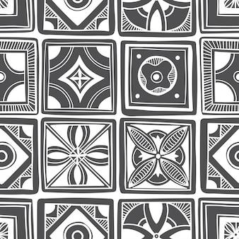 Disegno del modello di piastrelle decorative. illustrazione vettoriale.