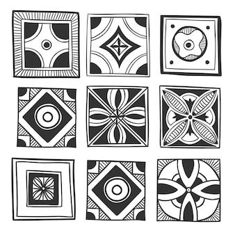 Design pattern piastrelle decorative.