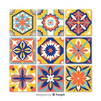 Set di piastrelle decorative