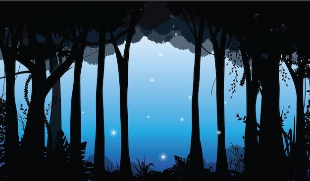 Paesaggio della foresta profonda