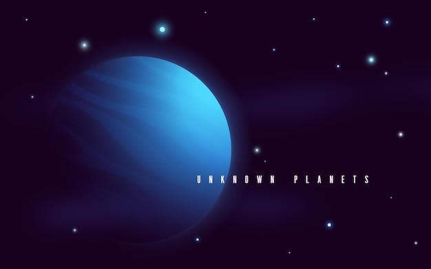 Illustrazione astratta di vettore di fantascienza dello spazio profondo.