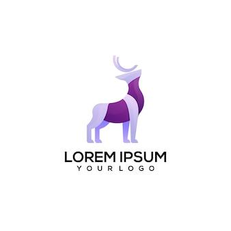 Illustrazione del logo colorato dei cervi