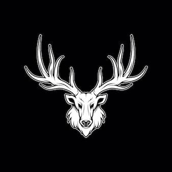 Illustrazione di testa di cervo