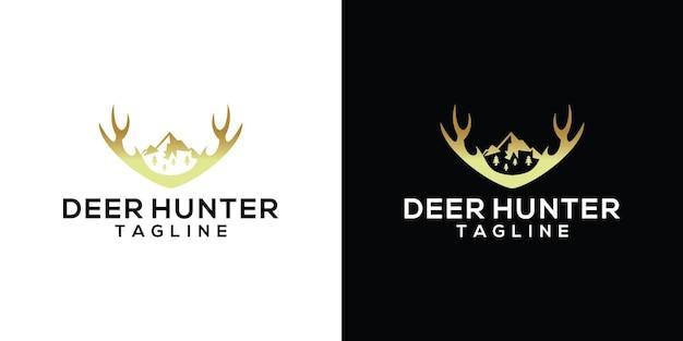 Ispirazione per il modello di progettazione del logo del cacciatore di cervi