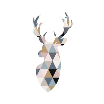 Illustrazione di cervo in stile patchwork