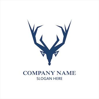 Modello di logo di design del logo dei cervi