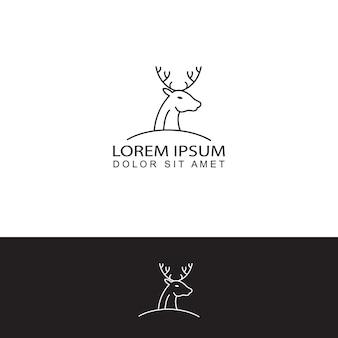 Vettore di disegno del modello di logo di cervo