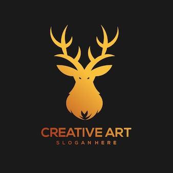 Cervo mascotte logo design vintage