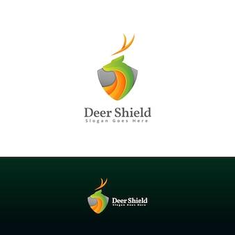 Modello di progettazione del logo dello scudo dei cervi