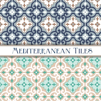 Colori delicati motivi geometrici mediterranei