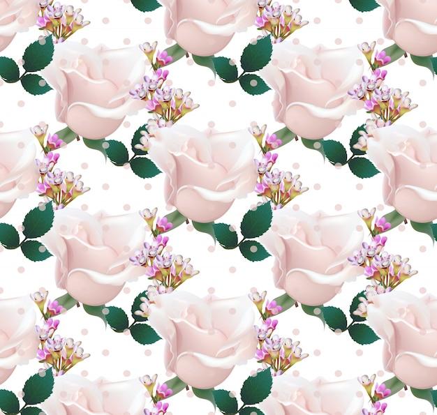 Delicato modello di fiori di rosa
