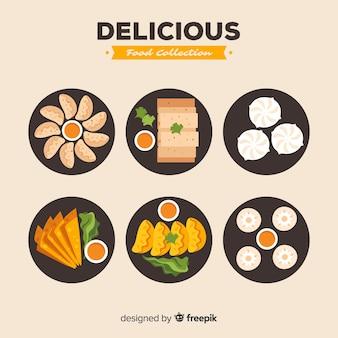 Collezione di cibo delizioso