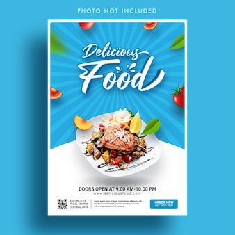 Modello di banner di promozione di cibo delizioso