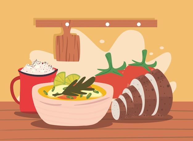 Delizioso cibo fatto in casa
