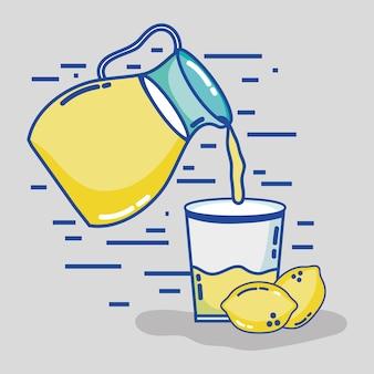 Bevanda deliziosa del succo del barattolo per rinfrescare l'illustrazione di vettore