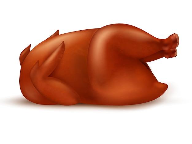 Delizioso pollo arrosto succoso o tacchino.