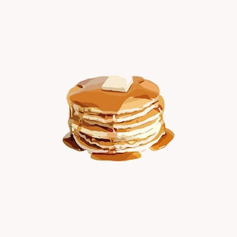 Pancake deliziosi. illustrazione vettoriale