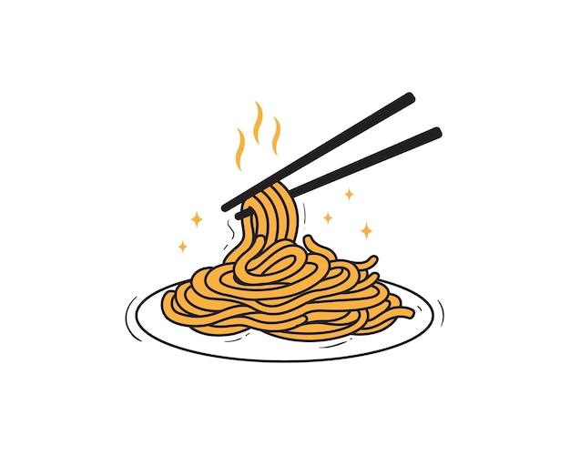 Delizioso piatto di noodles