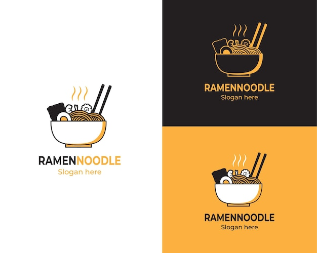 Delizioso logo di noodles ramen